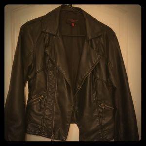 Jackets & Blazers - Leather Coat Jr Large